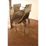 Stainless steel vibratory conveyor 600mm x 1m