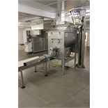 Hobart twin paddle mixer grinder model 43/56 complete with tote bin hoist