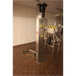 Stainless steel tote bin lifter 175kg max weight