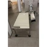 Plastic roller conveyor 1500mm x 600mm
