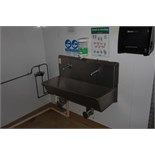 Syspal stainless steel twin station knee operated sink