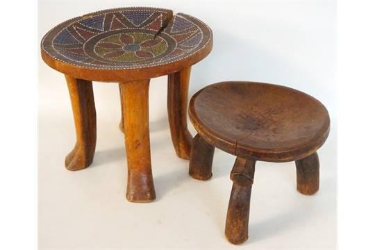 Pleasing Kamba Tribal Carved Wooden Four Legged Stool Kenya East Ibusinesslaw Wood Chair Design Ideas Ibusinesslaworg
