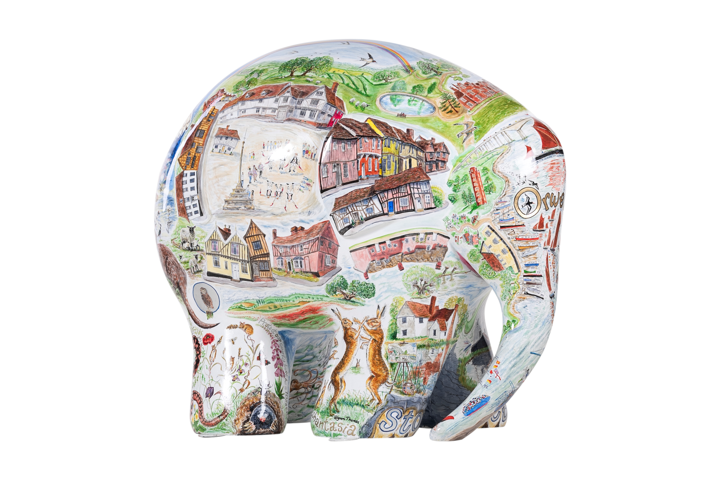Suffolk Elephantasia by Glynn Thomas RE. Sponsored by Gotelee Solicitors. - Image 2 of 5