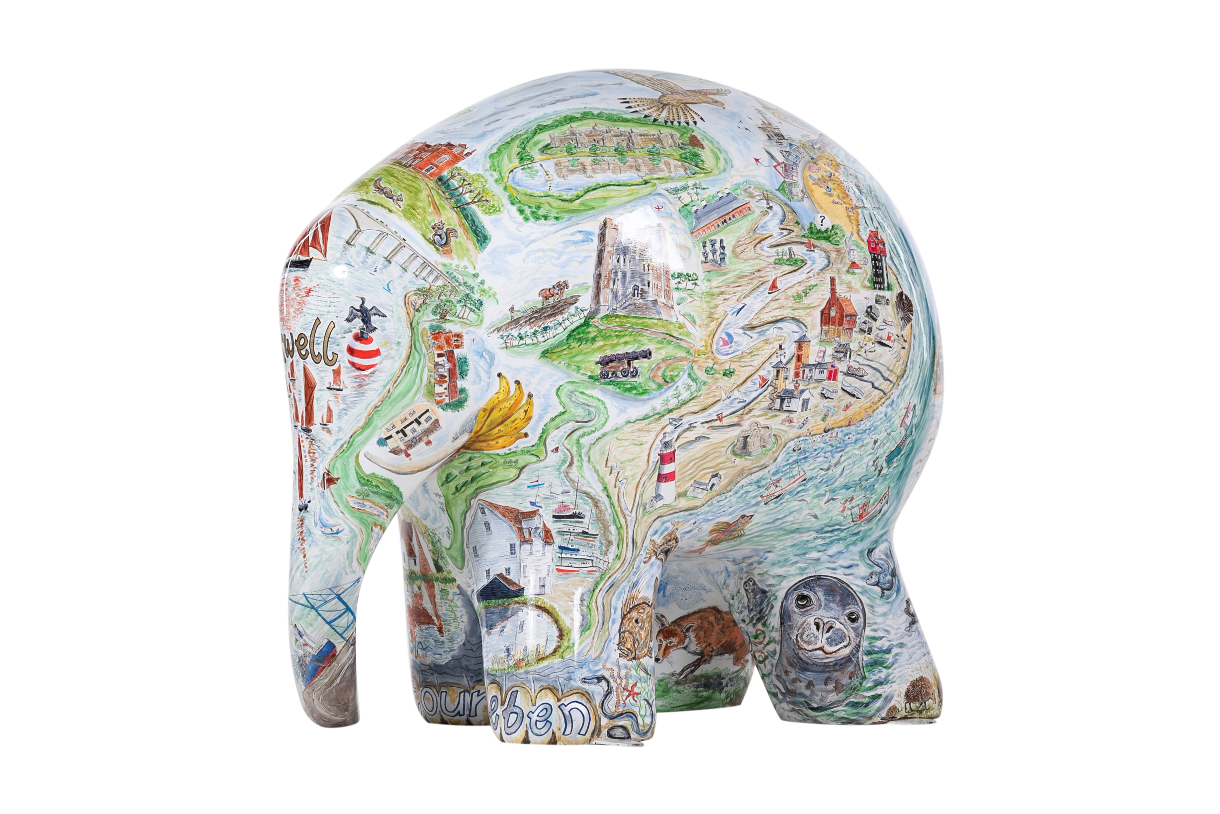 Suffolk Elephantasia by Glynn Thomas RE. Sponsored by Gotelee Solicitors.