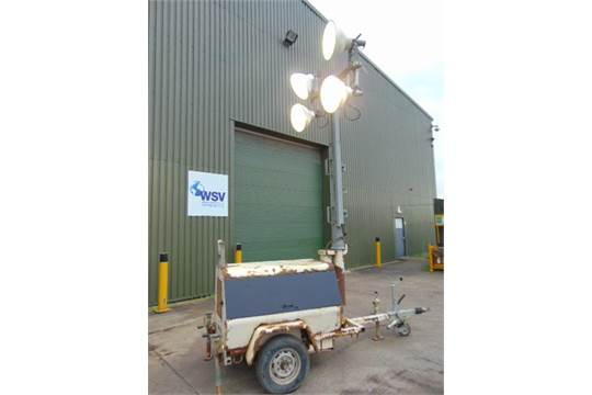 Lot 18 - Terex Amida AL4050D-4MH Kubota Diesel Powered Trailer Mounted Lighting Tower