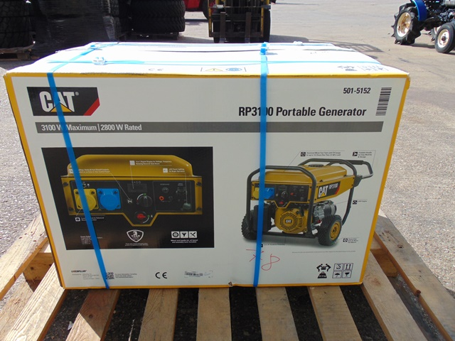 Lot 28 - UNISSUED Caterpillar RP3100 industrial Petrol Generator Set