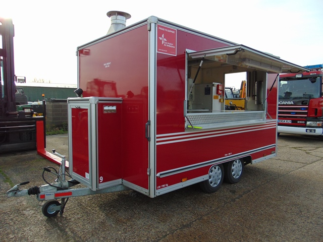 Ex Fire Service 12ft Towability Catering Trailer