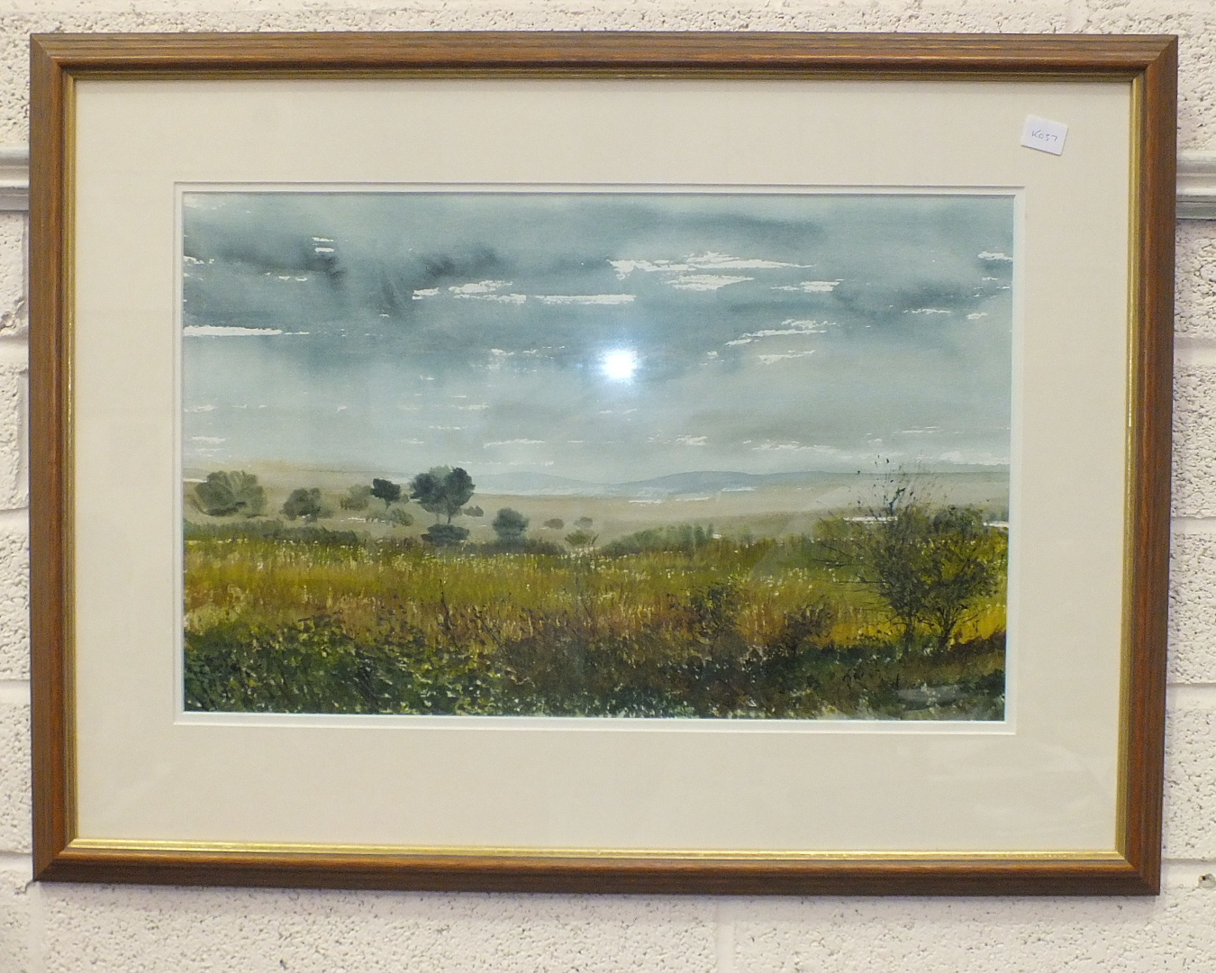 """C Rex James, """"Landscape"""", signed watercolour, 33 x 52cm, another, """"The Yealm at Puslinch"""", titled"""