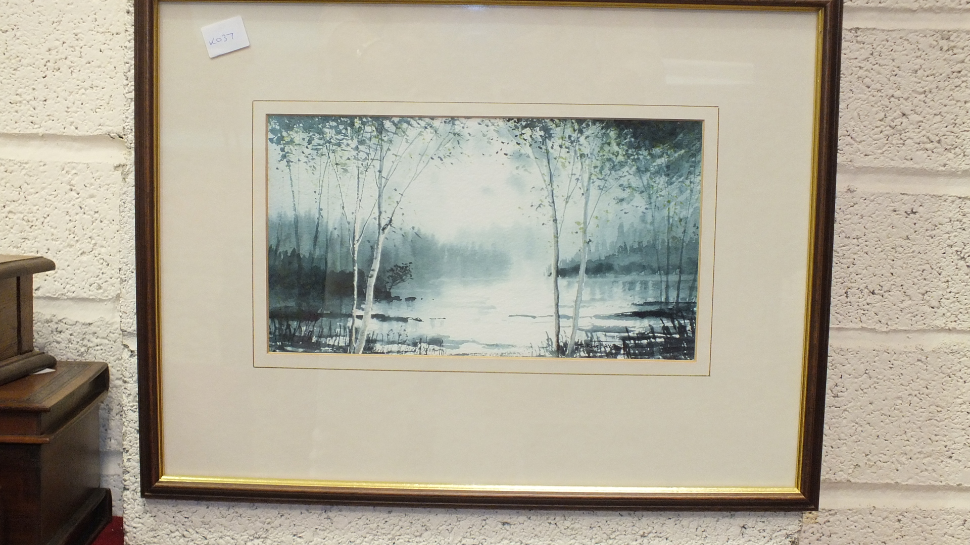 """C Rex James, """"Landscape"""", signed watercolour, 33 x 52cm, another, """"The Yealm at Puslinch"""", titled - Image 4 of 4"""