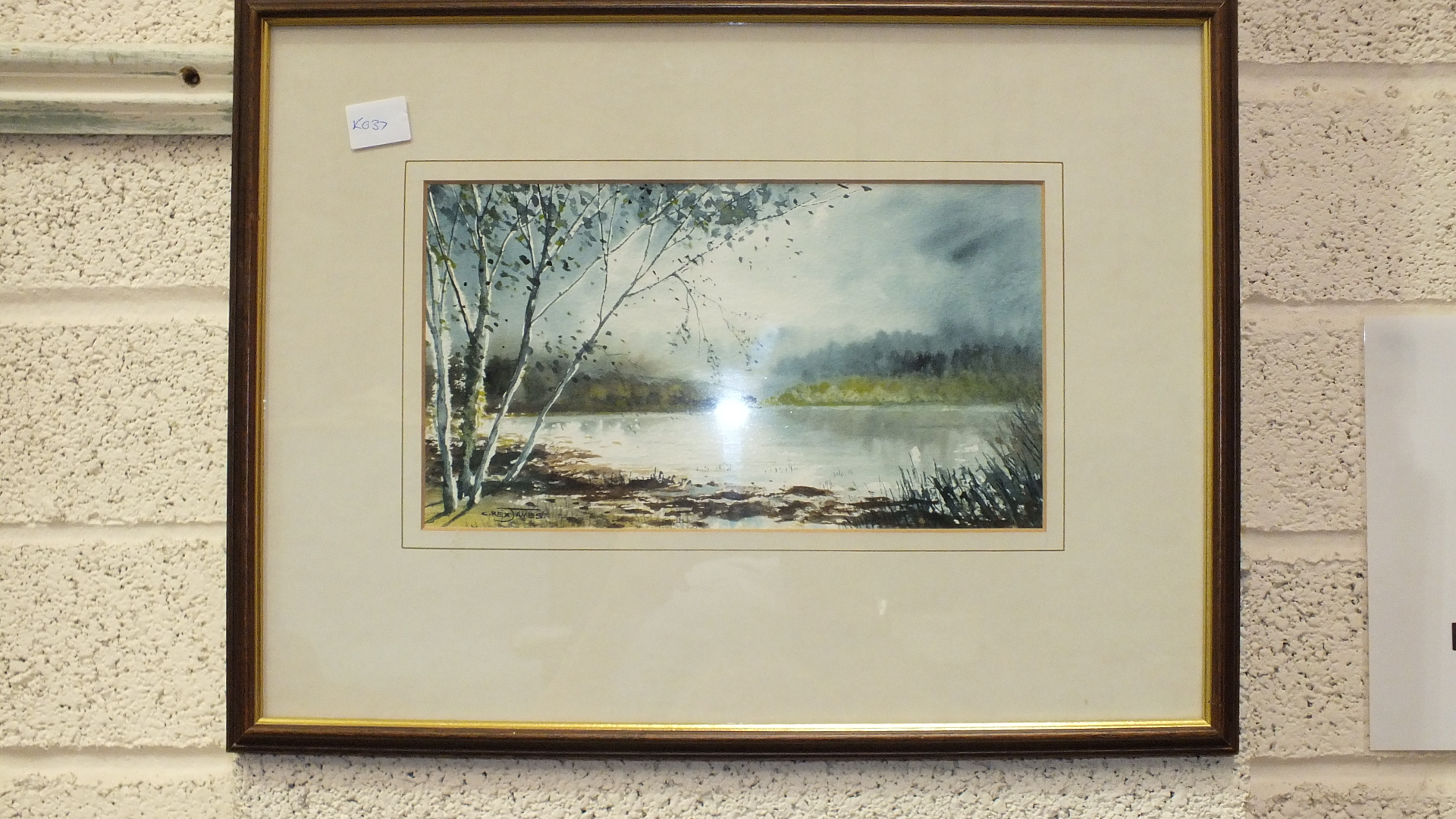 """C Rex James, """"Landscape"""", signed watercolour, 33 x 52cm, another, """"The Yealm at Puslinch"""", titled - Image 2 of 4"""