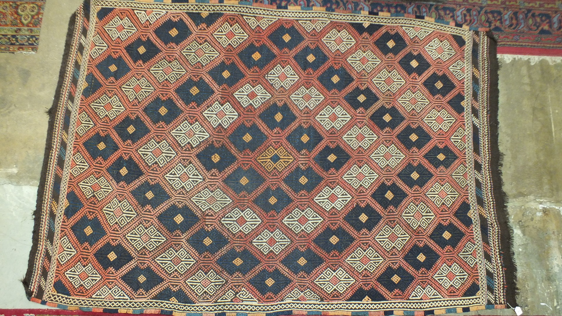 Three oriental rugs and a saddle bag (4). - Image 3 of 4