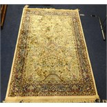 Lot 408 - Patterned floor rug, 176cm x 118cm