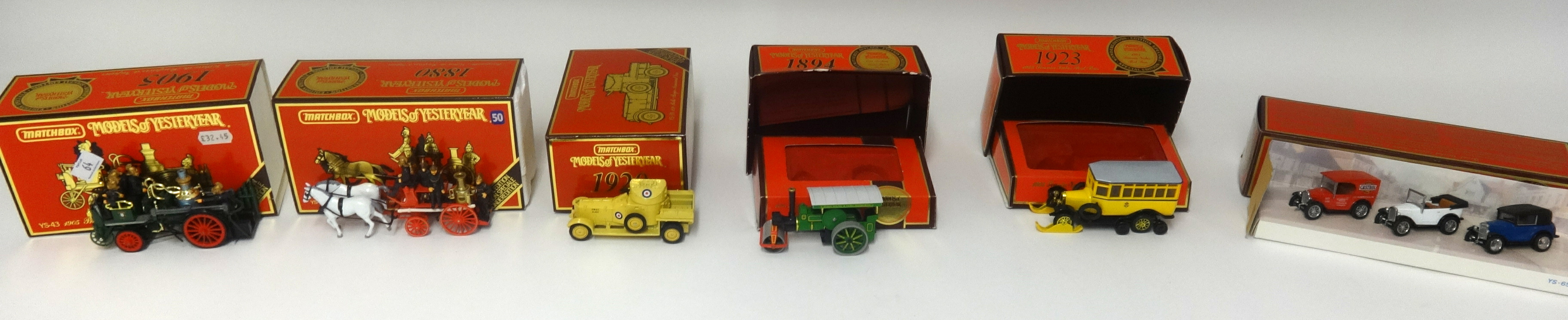 Lot 064 - A collection of Matchbox Models of Yesteryear which includes advertising vans and a Y16 Cadillac and