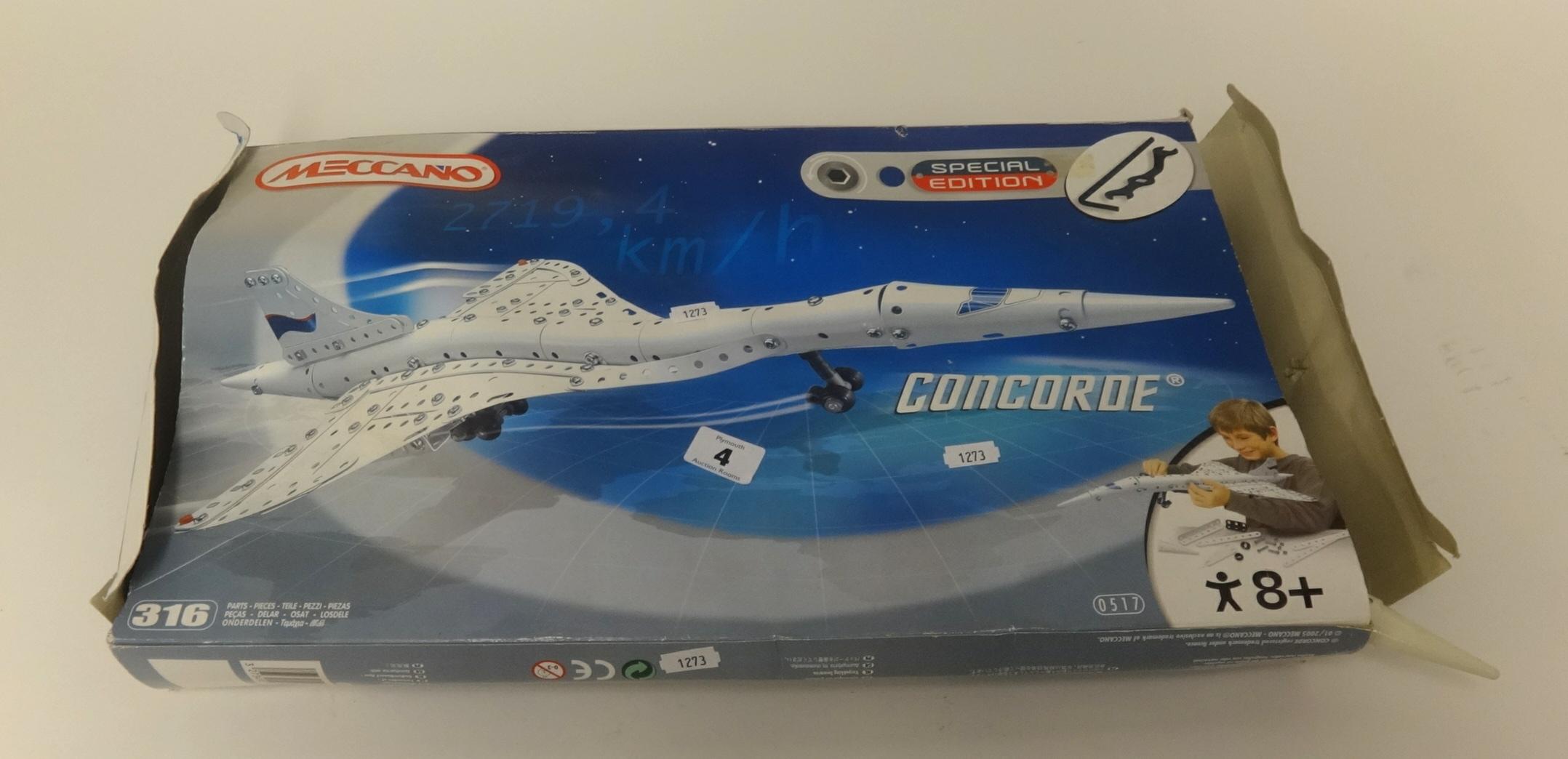 Lot 004 - Meccano, Special Edition Concorde aircraft model.