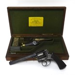 Lot 030 - Deane Adams & Deane, a five shot Revolver, pattern 1851, in its fitted mahogany case lined in