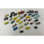 Lot 7 - A box of thirty six playworn older Matchbox toys (mostly 1-75 models).