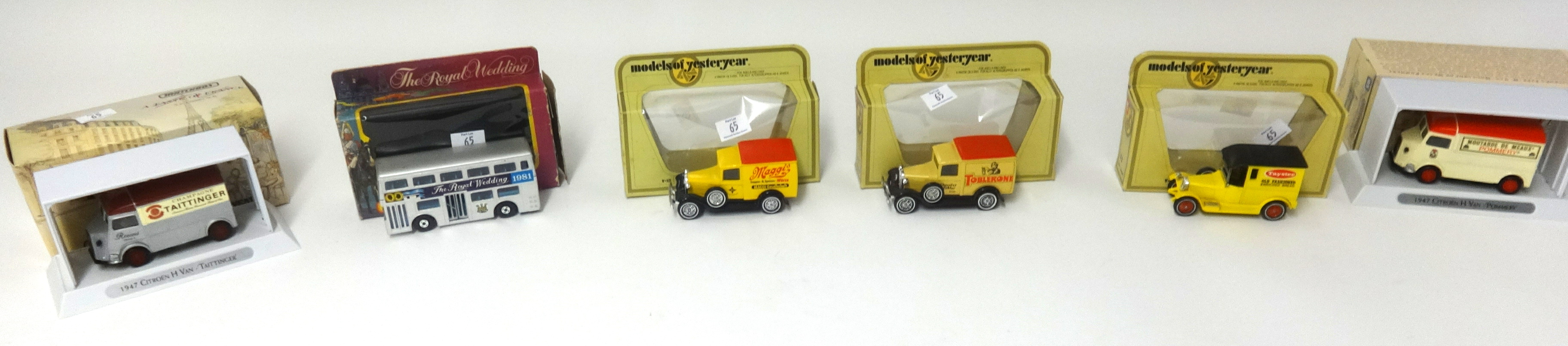 Lot 065 - A mixed lot of Matchbox Collectables Limited Edition, A Taste Of France, Models of Yesteryear and
