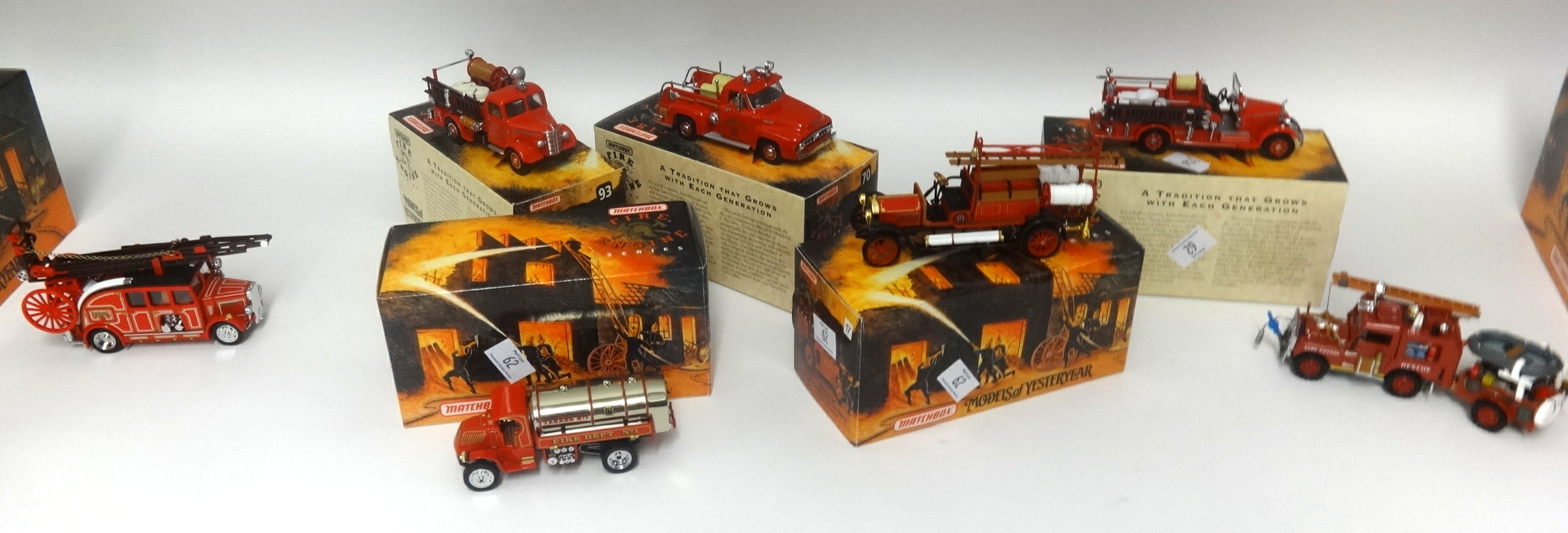 Lot 062 - A collection of Matchbox Fire Engine Series. Approx 40 including some special edition models.