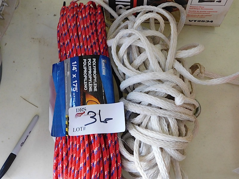 Lot 36 - LOT OF ROPE