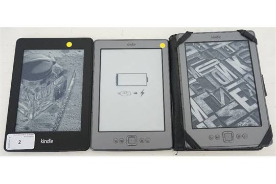 KINDLE PAPERWHITE 2 (2013) WIFI (4GB) AND 2 KINDLE 4 NOTOUCH