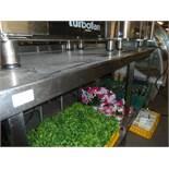 *S/S prep bench with under shelf 1800w x 650d x 870h