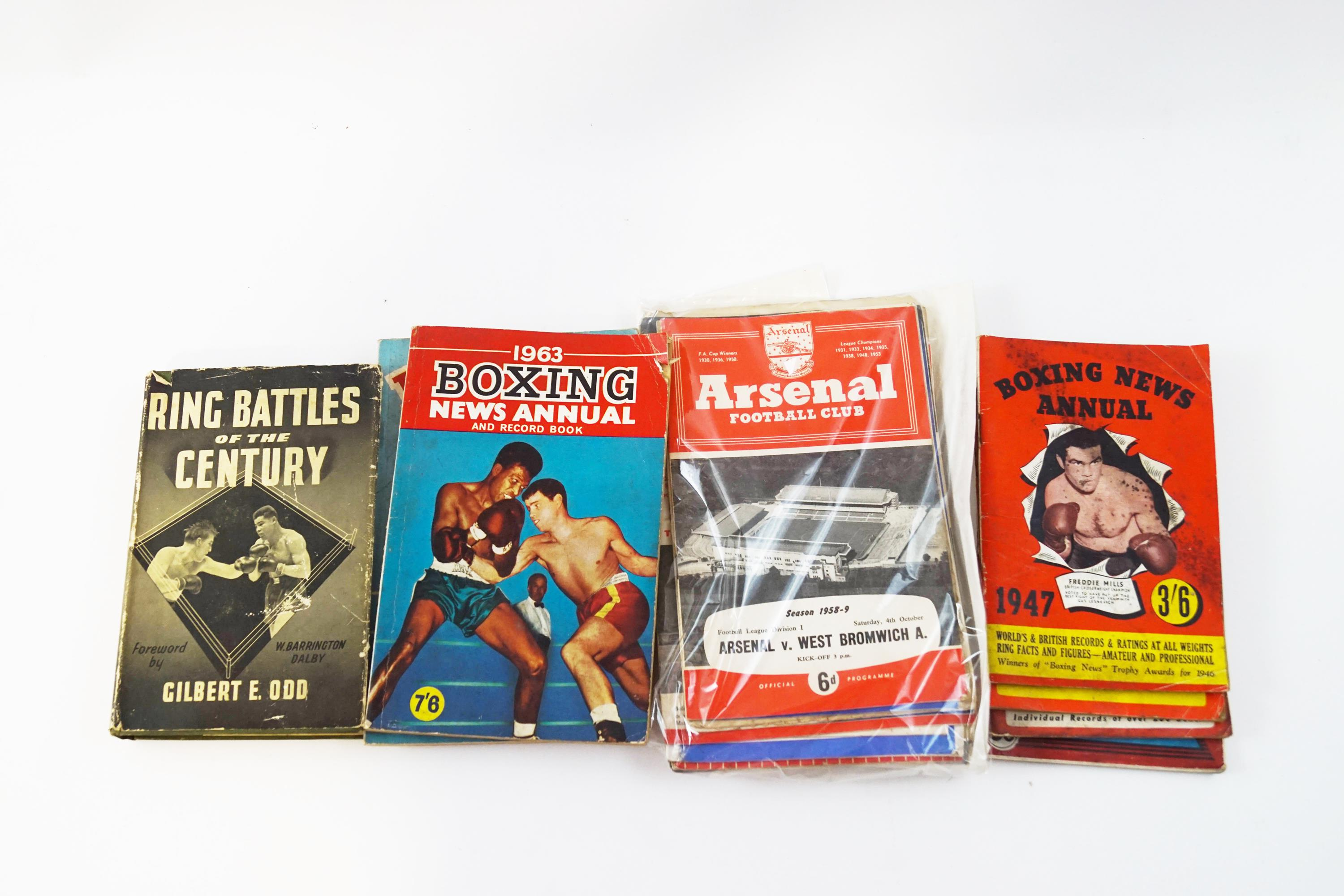 Lot 38 - Six Old Boxing News annuals,