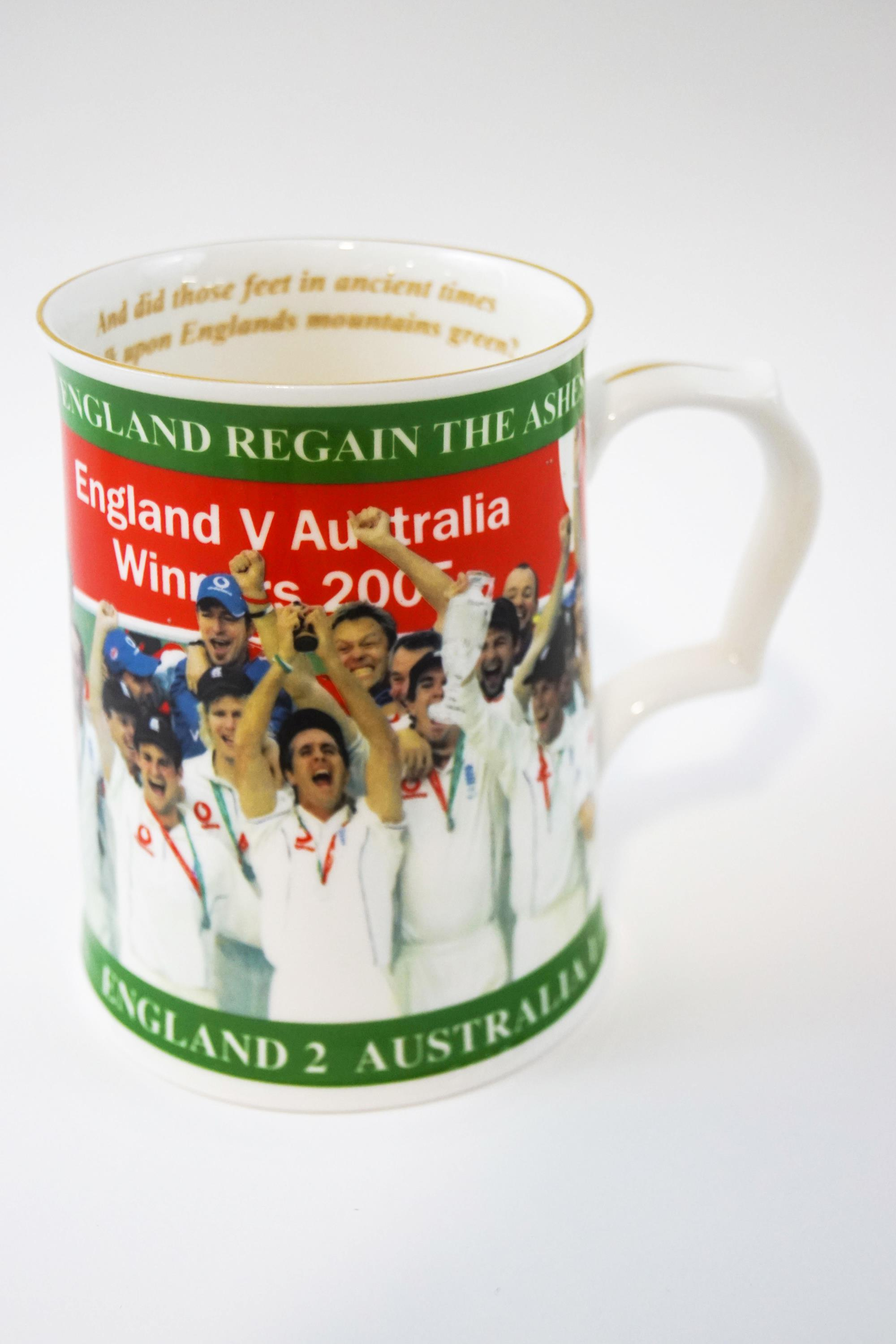 Lot 2 - An Aynsley limited edition Ashes Test Series 2005 tankard