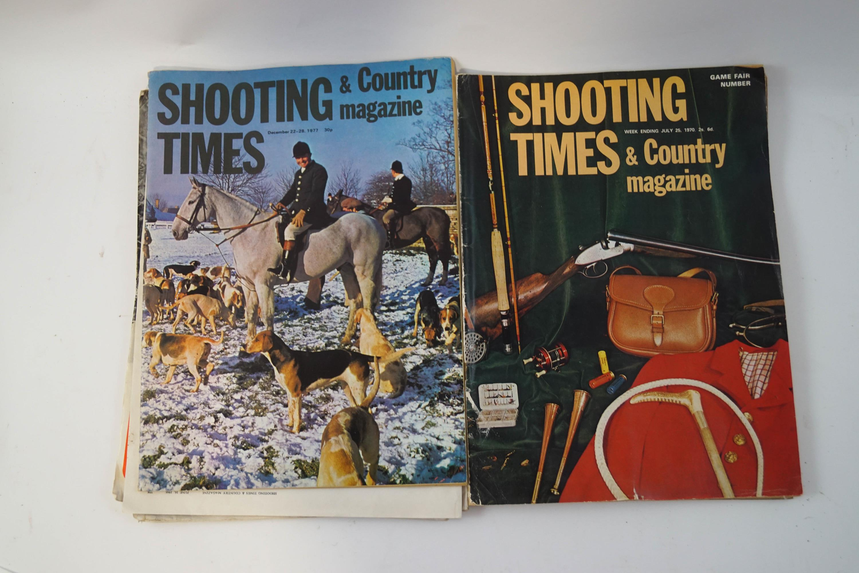 Lot 48 - A large quantity of Shooting Times and Country magazines, together with copies of The Field,