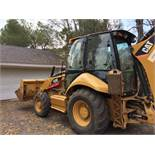 2009 Caterpillar 420E Loader/Backhoe. 4x4 loader backhoe. Enclosed cabin, (No A/C), ECab. Hoe. Bkt.
