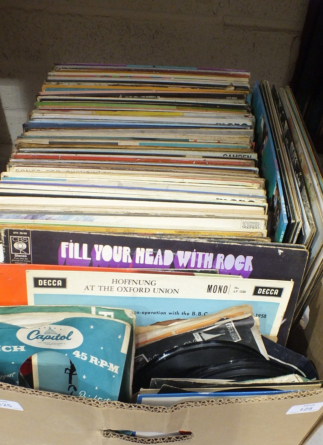 Lot 125 - A collection of LP records, (a/f).