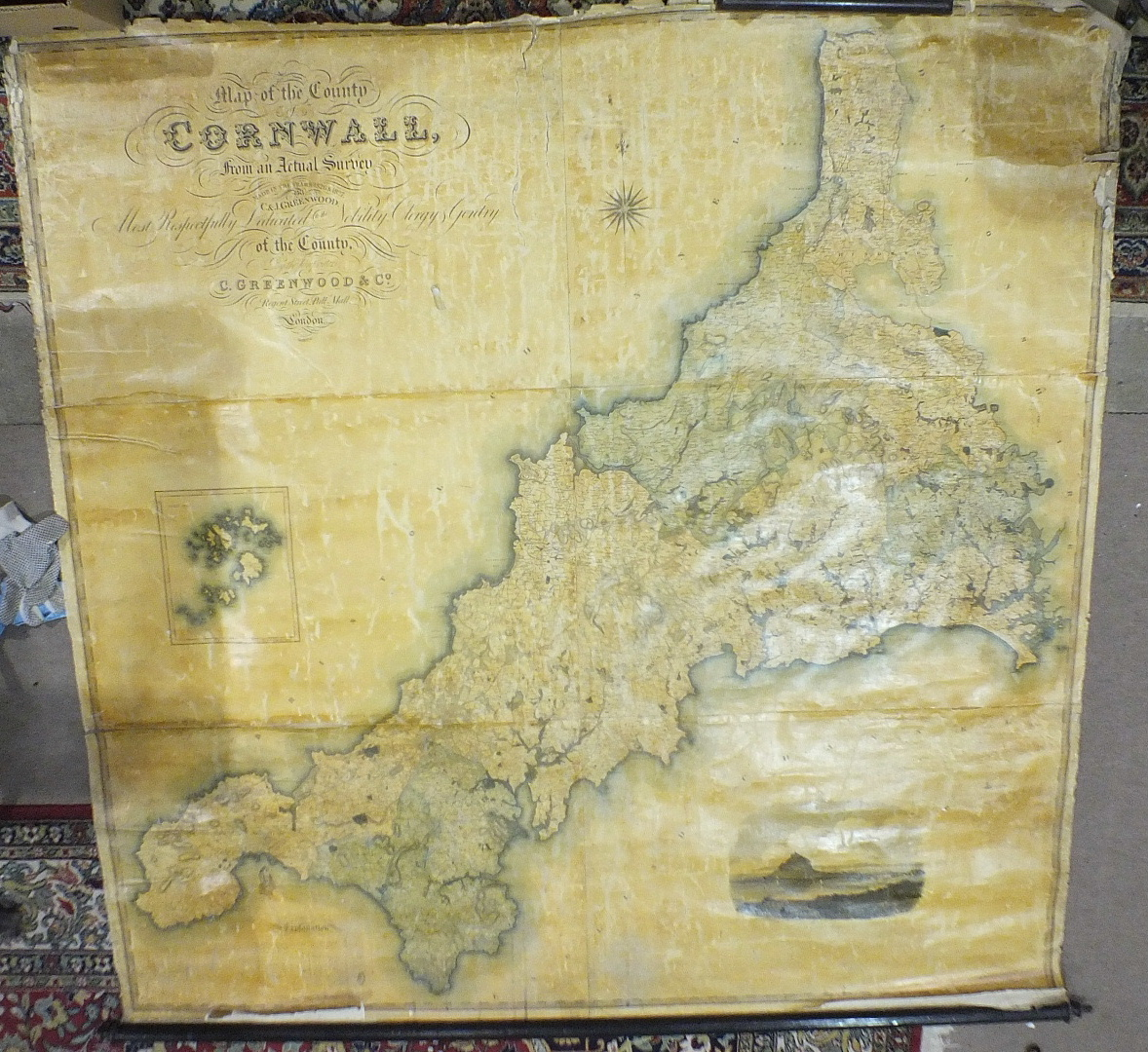 Lot 44 - Greenwood (C & Co.), a large-scale Map of the County of Cornwall from an Actual Survey made in the