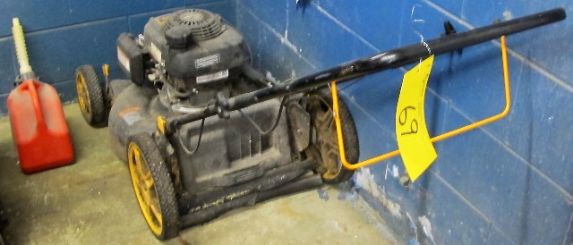 Lot 69 - POULIN PRO, HONDA ENGINE, GAS POWERED MOWER WITH GAS CAN