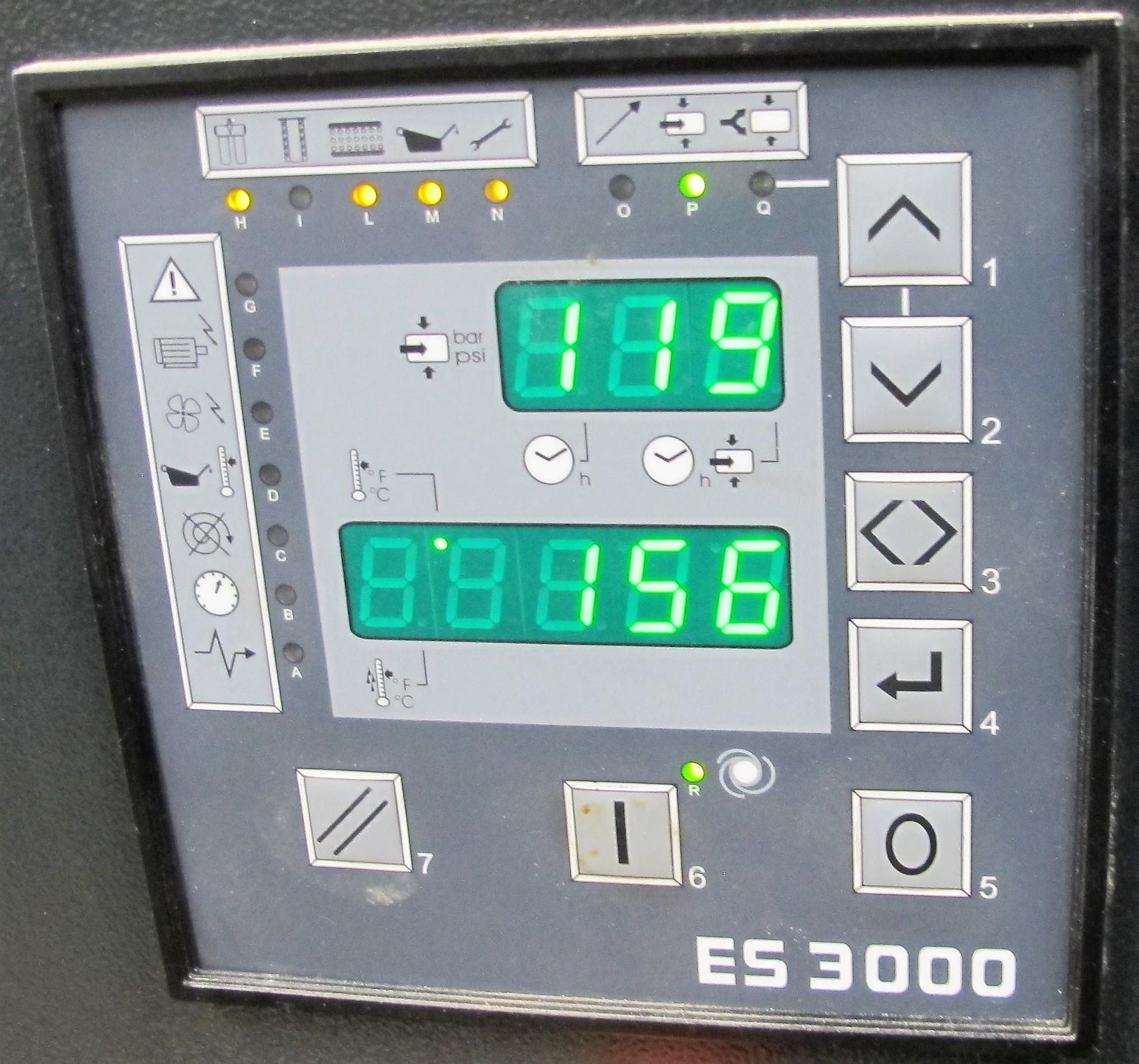 Lot 58 - EPN CHICAGO PNEUMATICS, QRS 25 UL COMPRESSOR, 25 HP, S/N CAI587959 W/ES3000 DIGITAL READOUT