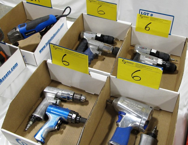 Lot 6 - LOT OF 4 BOXES OF PNEUMATIC TOOLS (CAMPBELL HAUSFIELD, PORTER/CABLE)