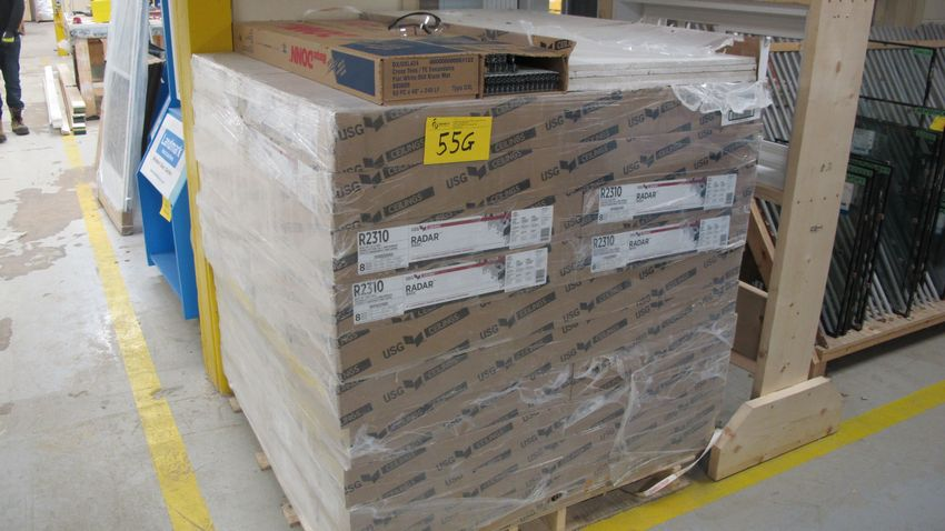 Lot 55G - PALLET OF USG CEILING TILE PANELS
