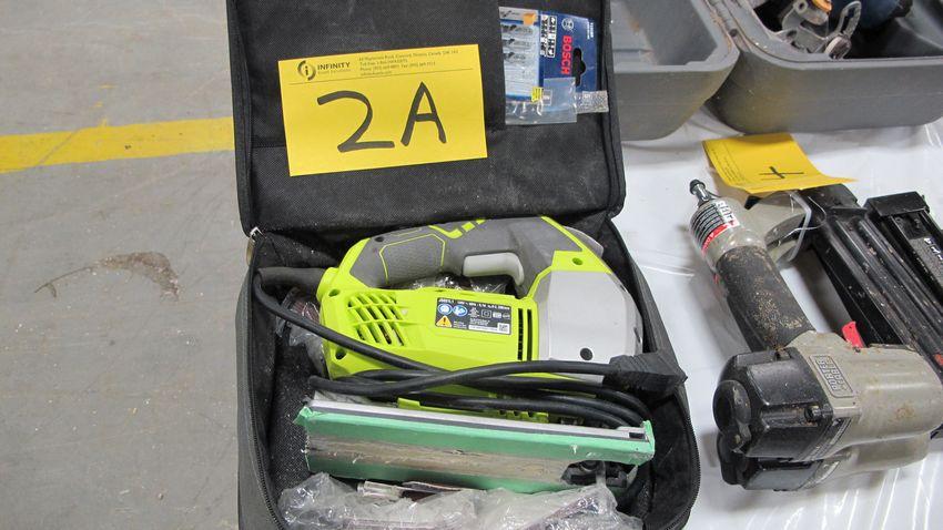 Lot 2A - RYOBI SPEED MATCH JS651L1 JIGSAW W/ SPARE BLADES