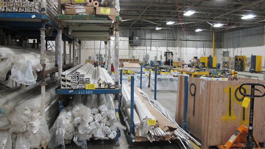 Lot 55E - CONTENTS OF (4) VERTICAL STACKED CARTS, VINYL AND METAL, 16' LENGTHS
