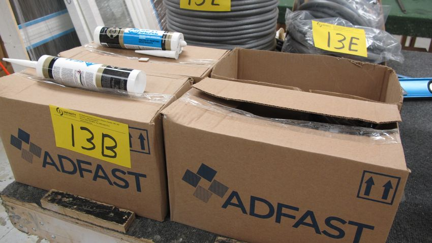 Lot 13B - LOT OF (4) BOXES OF ADSEAL DOOR AND WINDOW SEALANT
