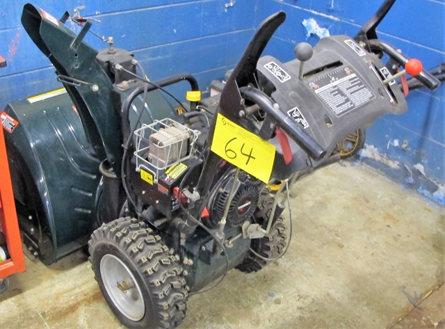 "Lot 64 - TECHUMESH, 9 HP/27"" SNOW BLOWER"