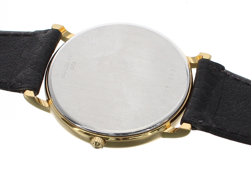Lot 58 - Longines Presence gold plated and stainless steel gentleman's wristwatch, ref. 6801, circular