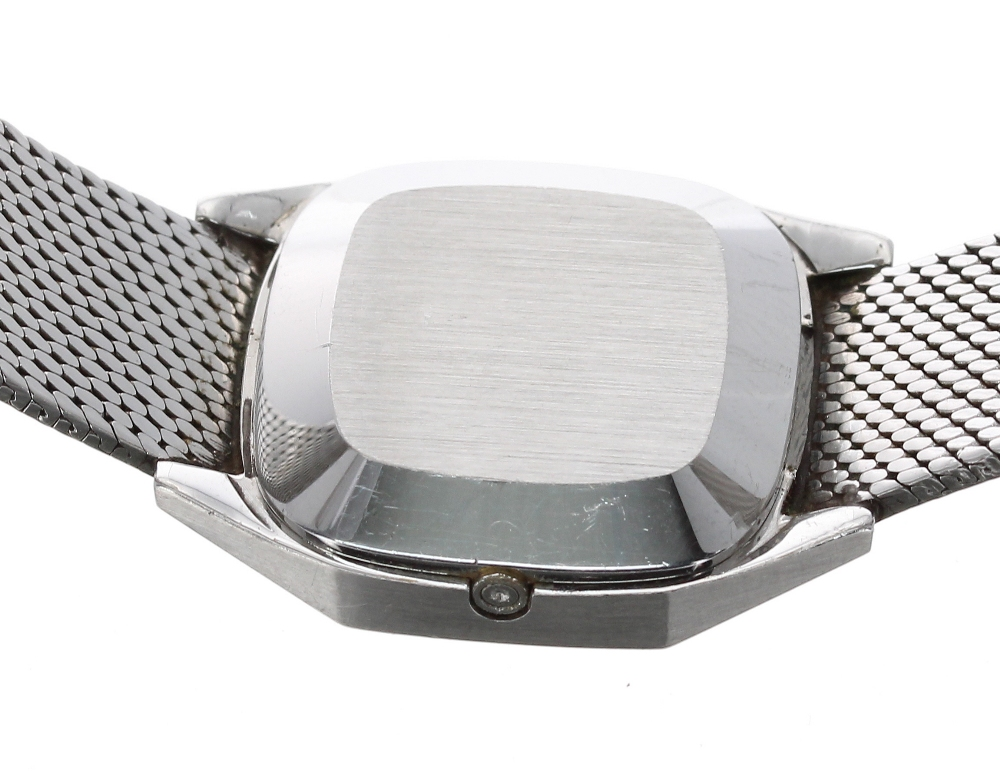 Lot 22 - Omega Constellation Quartz stainless steel ladies bracelet watch, ref. 791.0801 591.0004, square