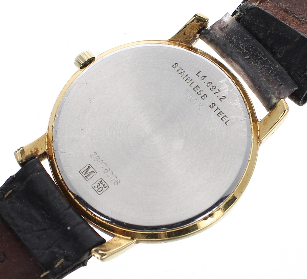 Lot 51 - Longines gold plated and stainless steel gentleman's dress watch, ref. L4.697.2, circular