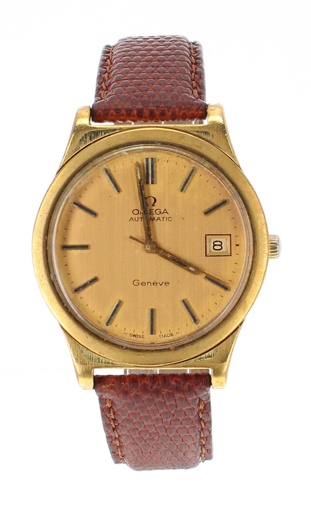 Lot 18 - Omega Genéve automatic gold plated and stainless steel gentleman's wristwatch, ref. 166 0168,