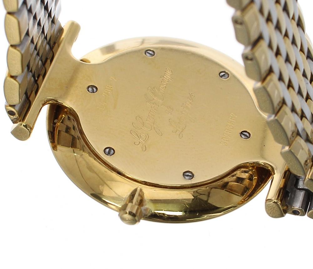 Lot 57 - Longines La Grande Classique gold plated gentleman's bracelet watch, ref. L4 709 2, circular white