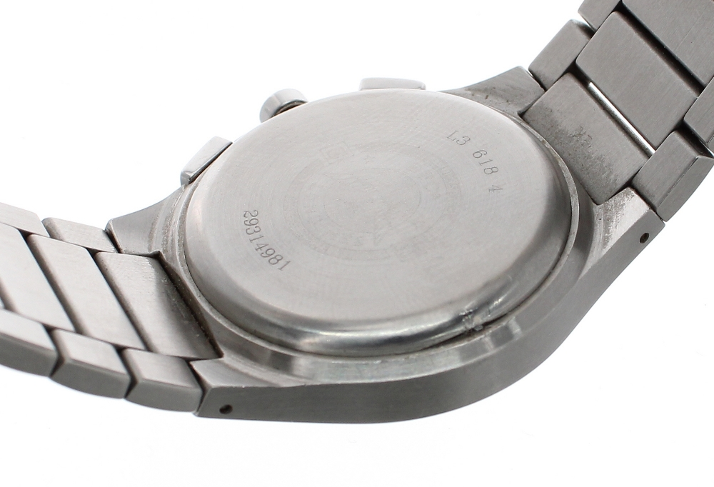 Lot 55 - Longines Opposition Chronograph stainless steel gentleman's bracelet watch, ref. L3 618 4,