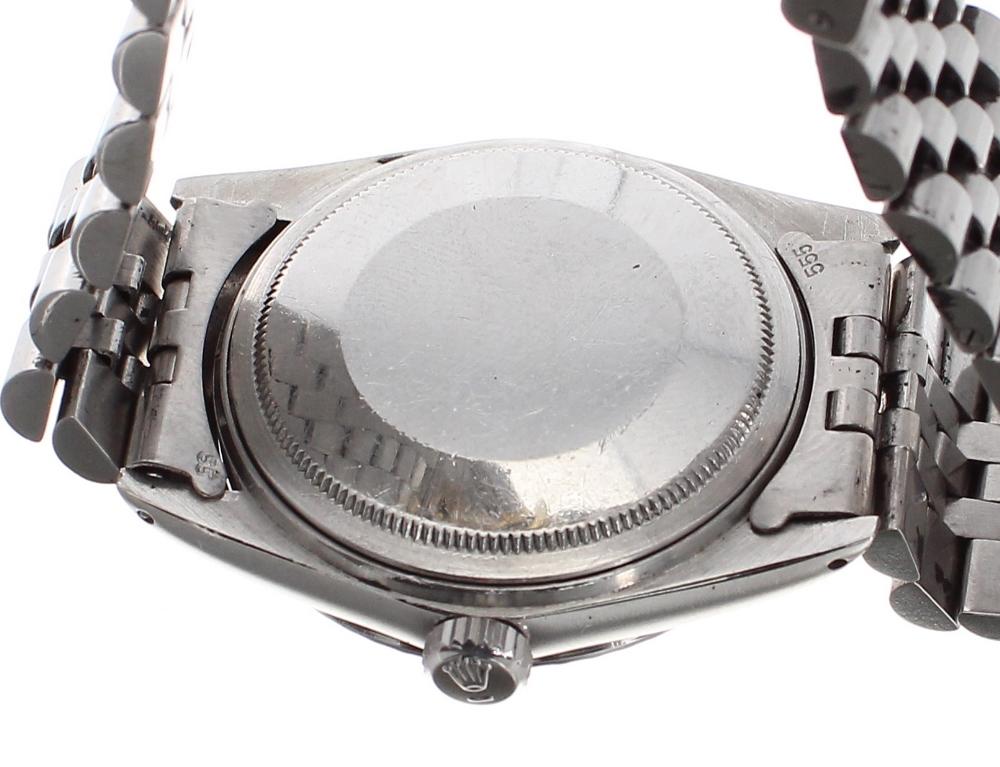 Lot 33 - Rolex Oyster Perpetual Datejust stainless steel gentleman's bracelet watch, ref. 16000, ser. no.