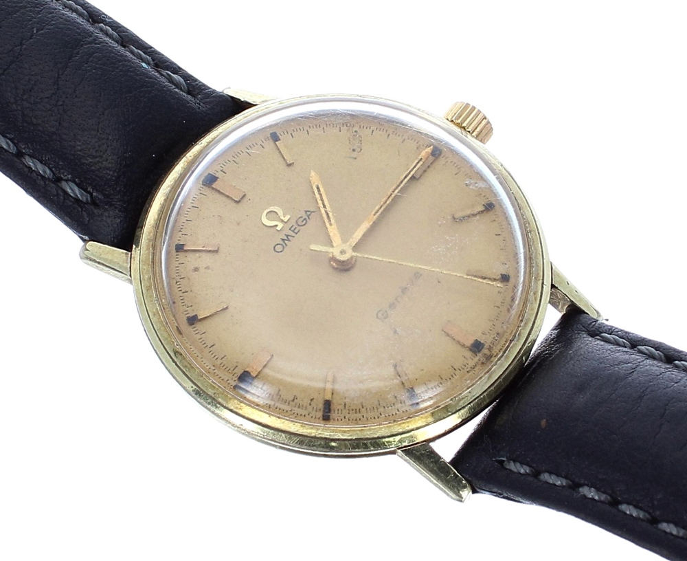 Lot 21 - Omega Genéve gold plated and stainless steel gentleman's wristwatch, ref. 131.019SP, circa 1970,