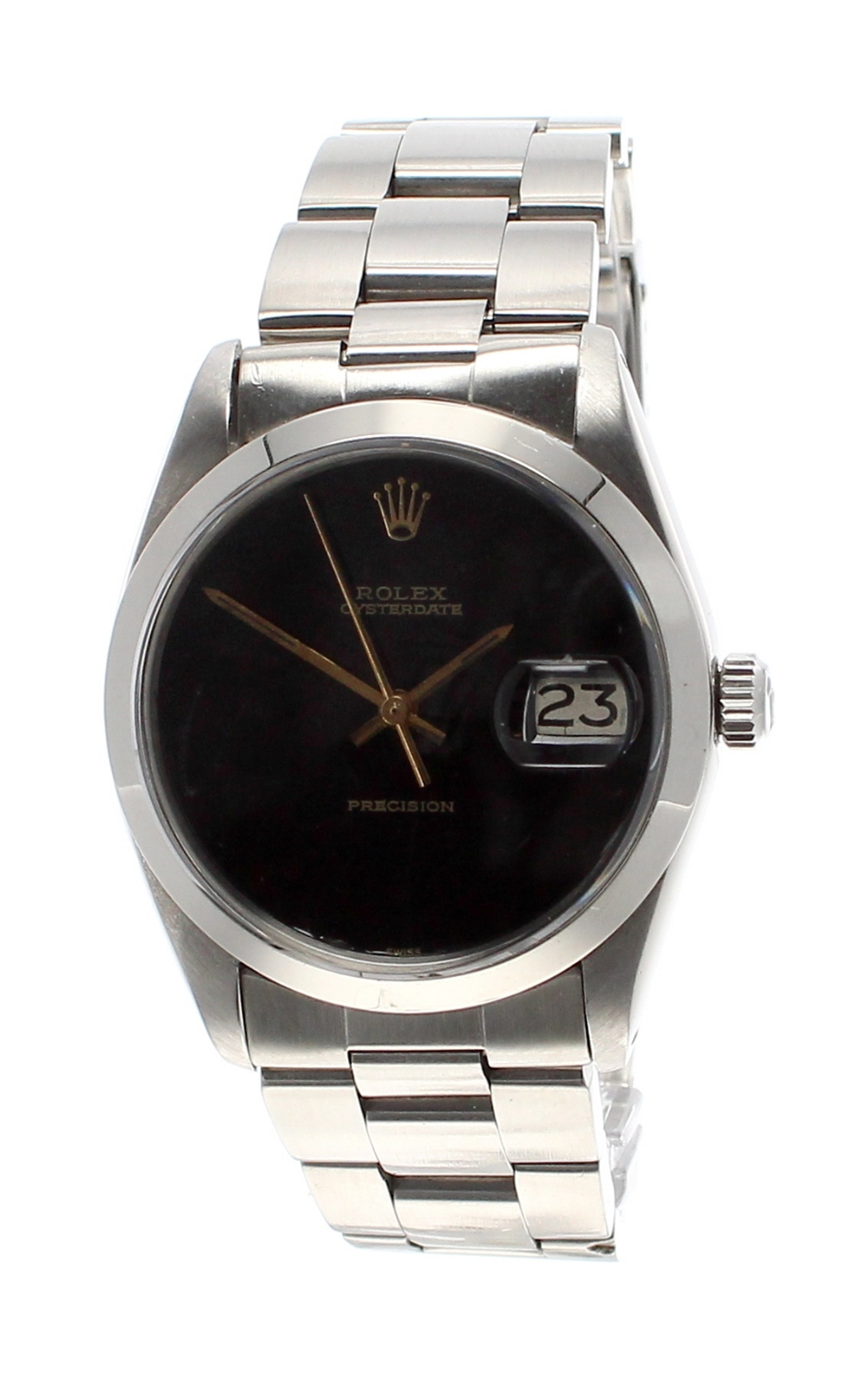 Lot 36 - Rolex Oysterdate Precision stainless steel gentleman's bracelet watch, ref. 6694. ser. no.