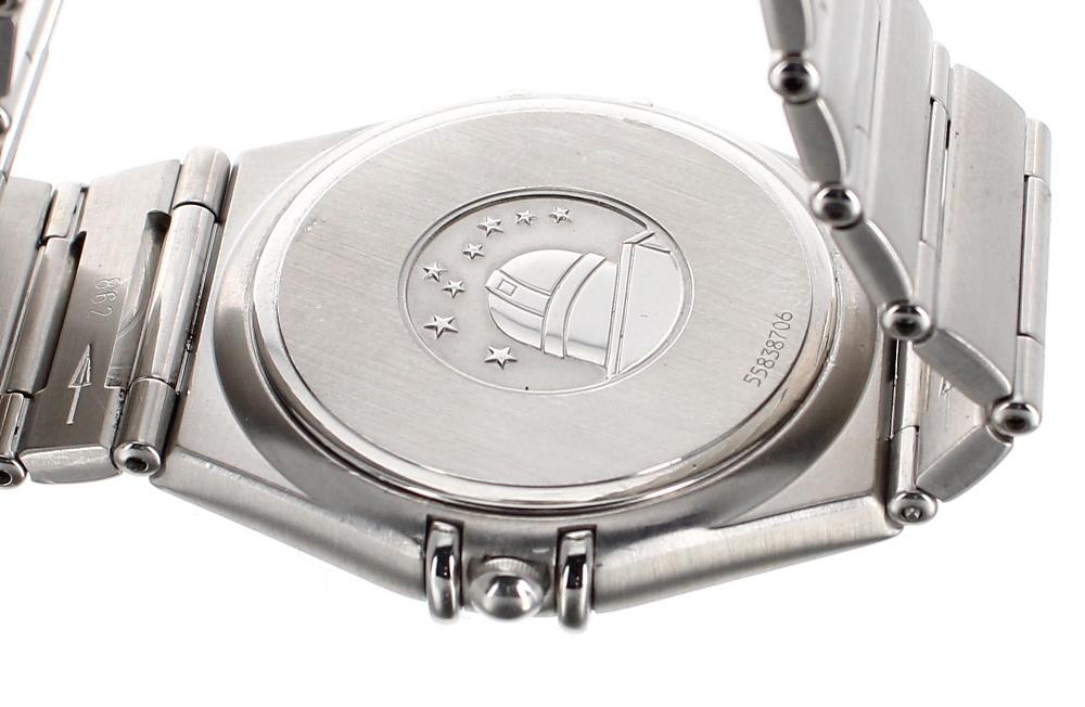 Lot 1 - Omega Constellation stainless steel bracelet watch, ref. 396.1201, circa 1995, no. 55838706,