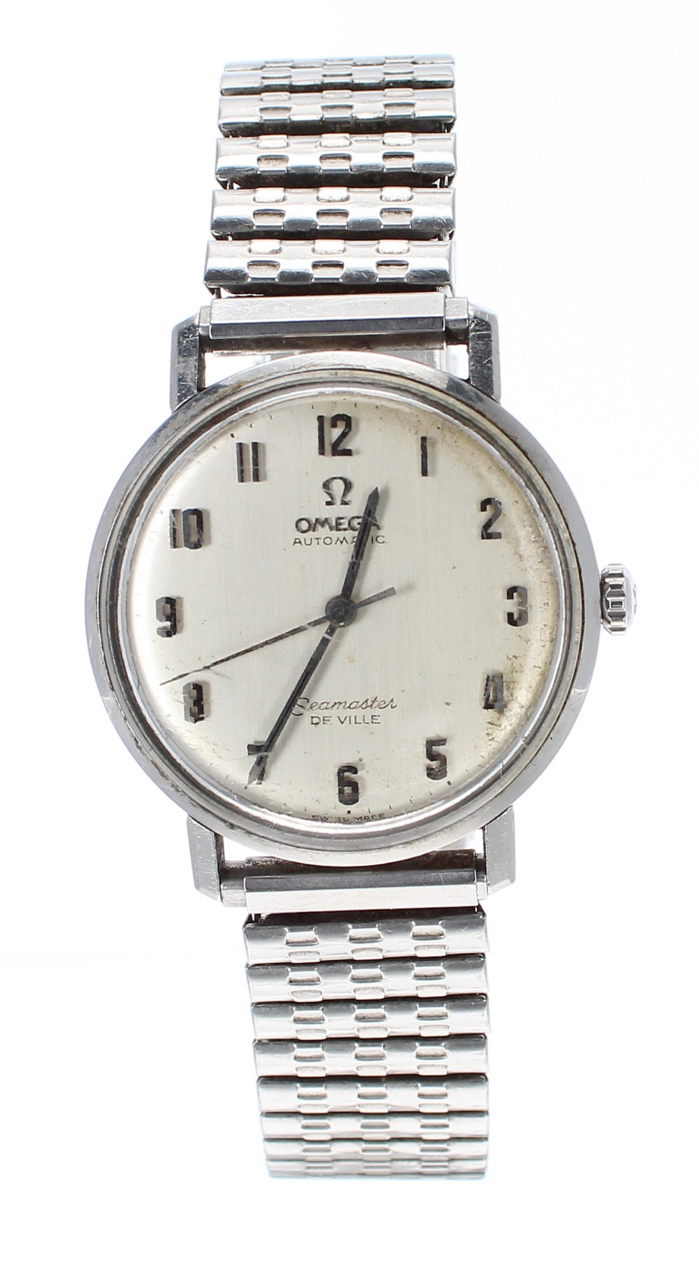 Lot 14 - Omega Seamaster DeVille automatic stainless steel gentleman's bracelet watch, circular silvered dial